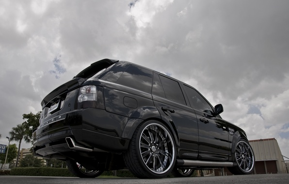 Wallpaper The Sky Trees Clouds Black Tuning Wheels