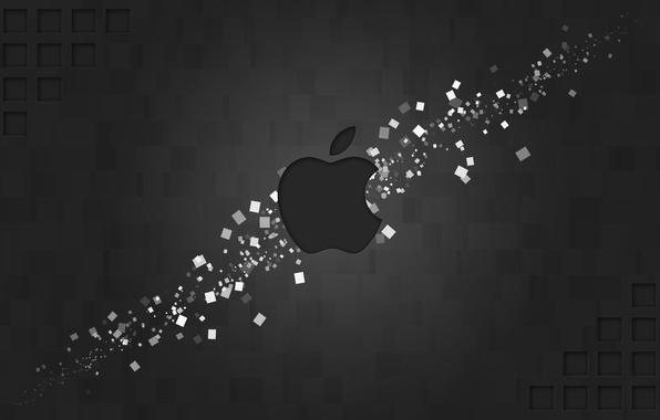 Picture apple, logo, mac, figure, brand, hi-tech, rectangles