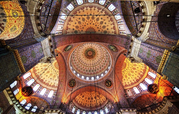 Picture pattern, paint, mosque, architecture, the dome, religion