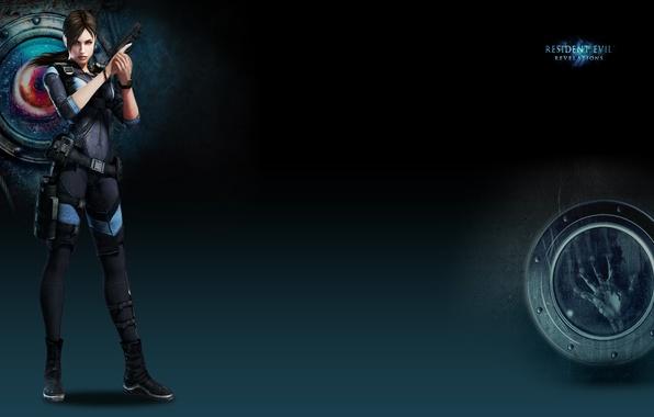 Picture girl, gun, watch, Resident Evil, Resident Evil: Revelations, Jill Valentine, Biohazard: Revelations