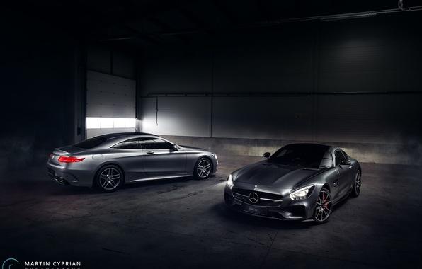 Picture car, Mercedes-Benz, hangar, AMG, S500