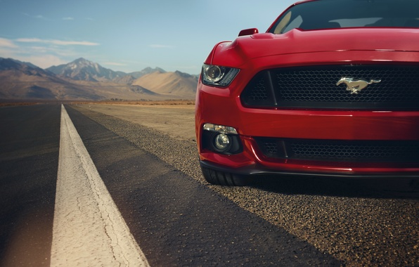 Picture red, Mustang, Ford, Mustang, before, red, muscle car, Ford, muscle car, front