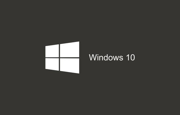 Photo wallpaper Windows, Logo, Start, The dark background, Dark gray