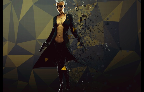 Picture girl, gun, punk, cyborg, cyberpunk, fan art, deus ex, mankind divided, areces, Deus Ex Mankind …
