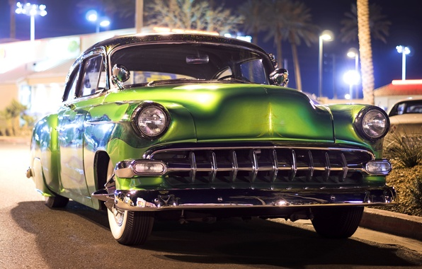 Picture Chevrolet, classic, 1954, Chevy, the front
