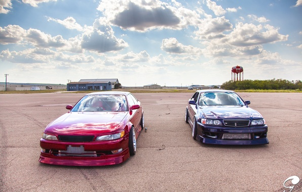 Picture red, toyota, tuning, Toyota, JDM, Chaser, mark 2, mark 2, tourer v, Toyota chayzer