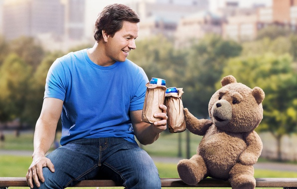 Picture Park, bear, shop, bear, plush, friends, Mark Wahlberg, Comedy, Mark Wahlberg, John, Ted, Ted 2, …