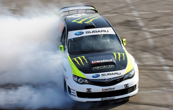 Picture skid, drift, drift, car, subaru, monster, rally, impreza, race, Subaru, monster, energy, Impreza, energy, wrxSTI