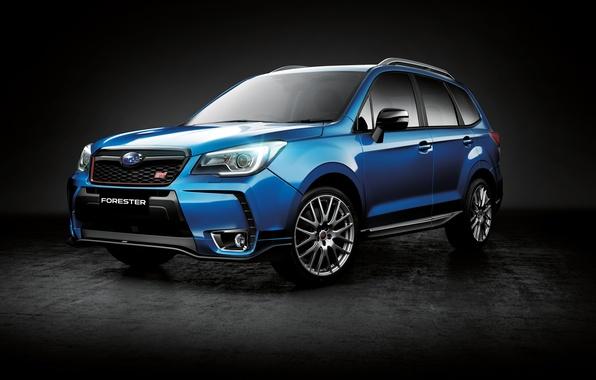 Picture Subaru, black background, Subaru, Forester, Forester