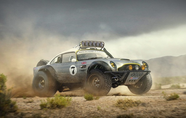 Picture Aston Martin, Race, Tuning, Dakar, Future, Sand, DB5, Offroad, by Khyzyl Saleem, Hugo Silva