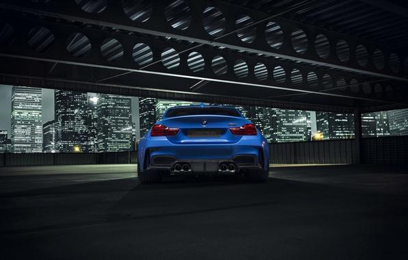 Picture BMW, City, Blue, Vorsteiner, Widebody, Rear, Photoshoot, Nigth, GTRS4