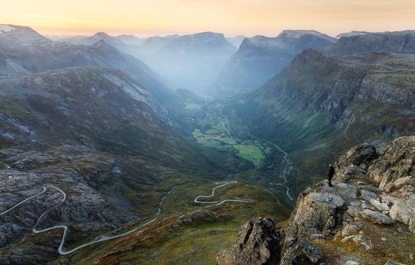 Picture road, mountains, nature, Switzerland, gorge, serpentine