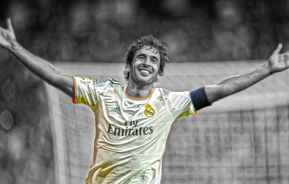 Picture Sport, Smile, Football, Photoshop, Real Madrid, Real Madrid, Joy, Legend, Raul, Raul, Player, Pencil