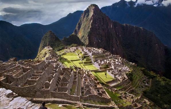 Picture the sky, mountains, the city, the ruins, ruins, Peru, Machu Picchu, the Incas