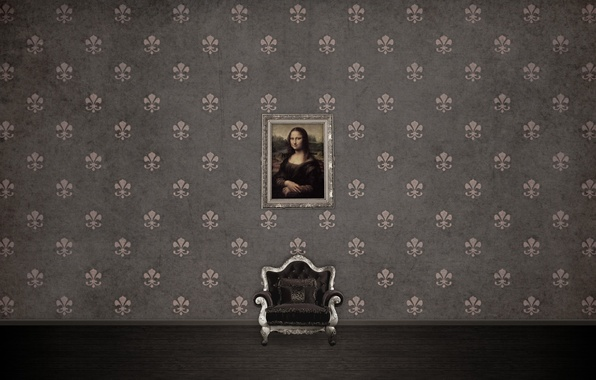 Picture patterns, picture, texture, chair, mona lisa, texture, patterns, 2560x1600, picture, armchair