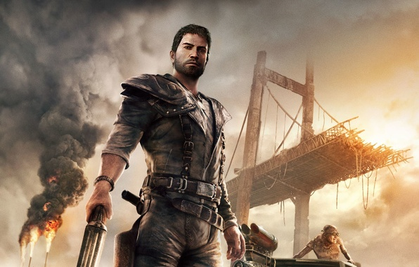 Picture Sunset, Bridge, Look, Smoke, Fire, Weapons, Flame, Art, Equipment, Mad Max, Warner Bros. Interactive Entertainment, …