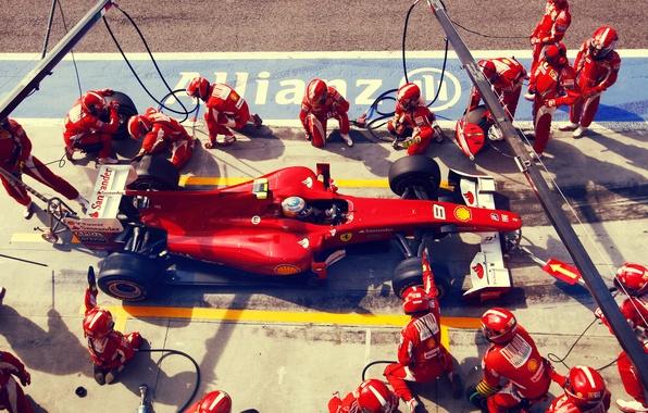 Picture ferrari, 2010, box, spain, formula1, spanish, formula one, alonso, victory, fernando alonso, f10, italy