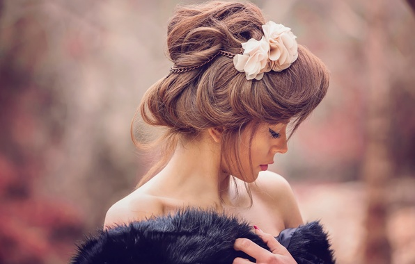 Picture background, hairstyle, Maria