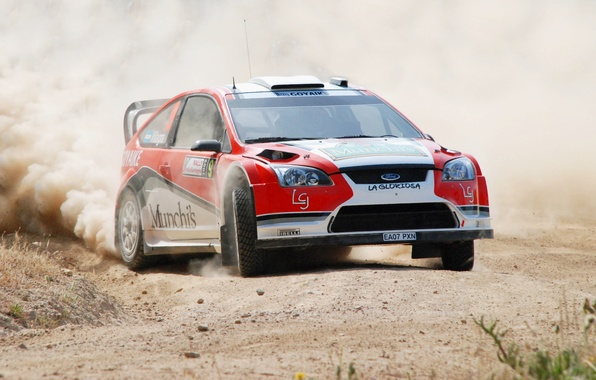 Picture Ford, Dust, Ford, Skid, Focus, WRC, Rally, Rally, Focus, The veil