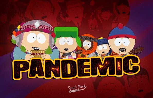 Picture cartoon, South Park, south park, pandemic