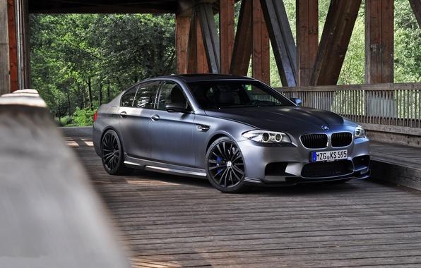 Picture bridge, BMW, BMW, support, front view, f10, matte grey, matte grey