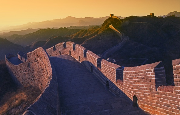 Picture mountains, wall, long