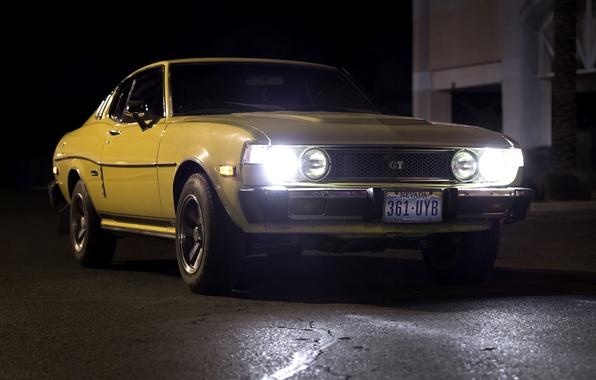 Picture retro, Toyota, classic, the front, 1977, Celica