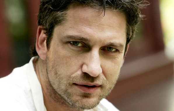 Picture eyes, look, face, male, actor, bristles, Gerard Butler