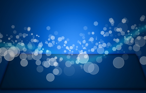Picture blue, wave, Bokeh, Effect
