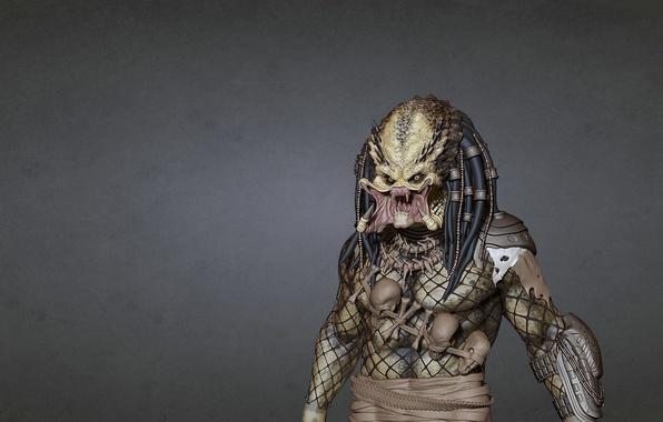 Picture the dark background, predator, alien, alien, predator
