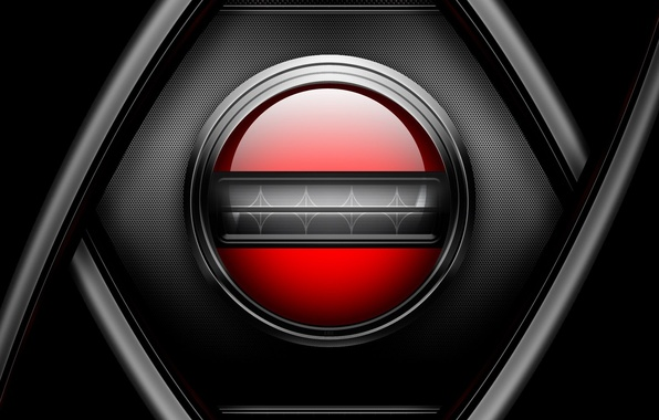 Picture red, metal, mesh, black, button