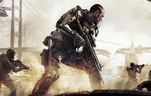 Picture Bridge, Soldiers, The exoskeleton, Military, Activision, Equipment, Sledgehammer Games, Call of Duty: Advanced Warfare