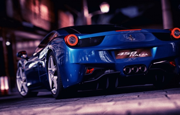 Picture Ferrari, Blue, Italia, F458
