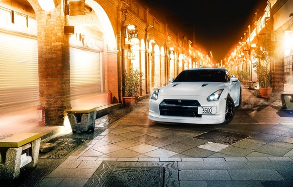 Picture GTR, Japan, Nissan, Car, White, R35, Sport, CR Creation
