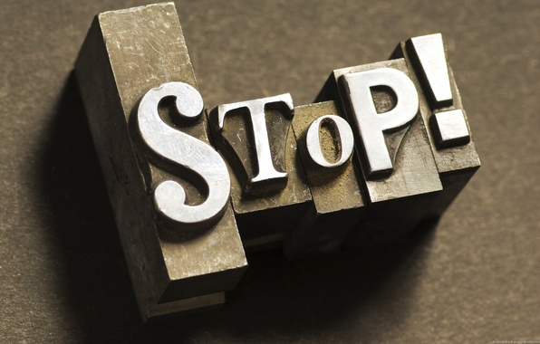 Picture macro, letters, stop, the word