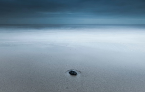 Picture sand, stone, horizon, One