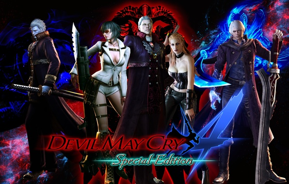 Picture lady, nero, devil may cry, dante, capcom, virgil, trish, Devil May Cry 4: Special Edition, …