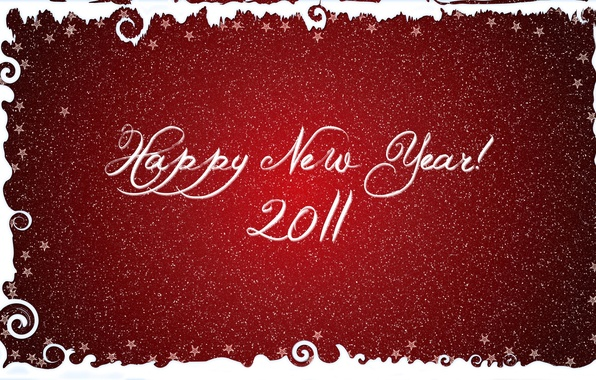 Picture snowflakes, red, letters, background, the inscription, new year, font, stars, congratulations
