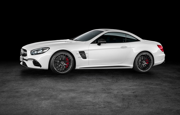Picture white, Mercedes-Benz, convertible, side, Mercedes, AMG, AMG, R231, SL-Class