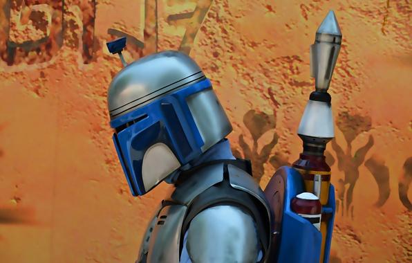 Picture background, Star Wars, helmet, mercenary, Boba Fett