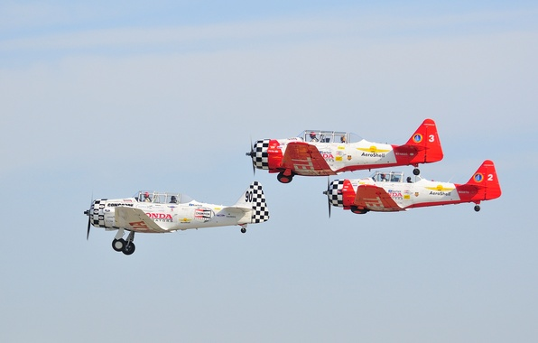 Picture the sky, clouds, retro, the plane, parade, link, biplane