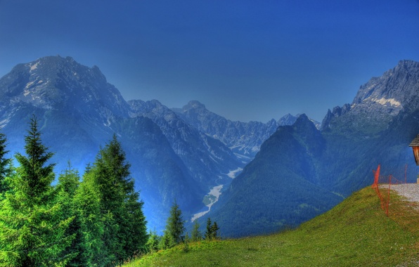 Picture landscape, mountains, nature, HDR, Germany, Bayern, Ramsau