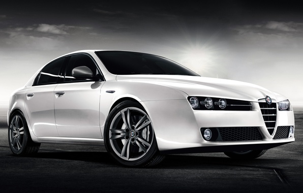 Picture White, Machine, Alfa Romeo, Car, Car, Cars, White, Alfa Romeo 159