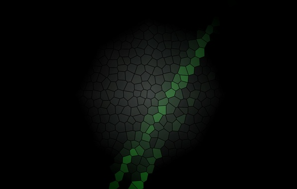 Picture black, color, texture, beautiful, stained glass, green, hexagons