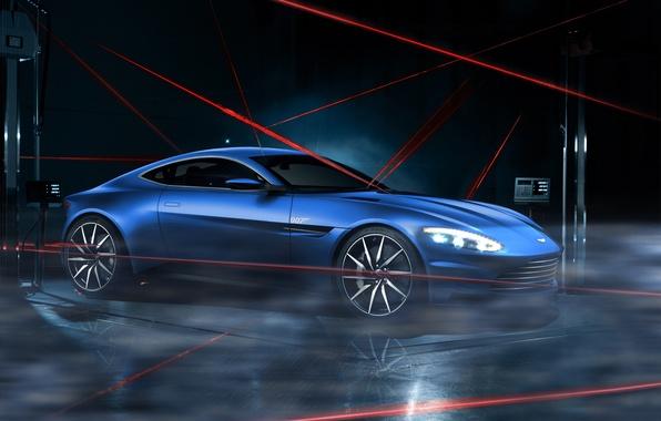 Picture Aston Martin, Dark, Car, Lagonda, Blue, Laser, Limited, DB10