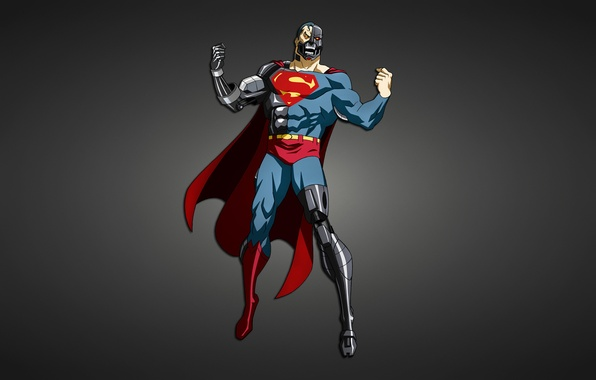 Picture metal, robot, Superman, cyborg, Creek, comic, Superman