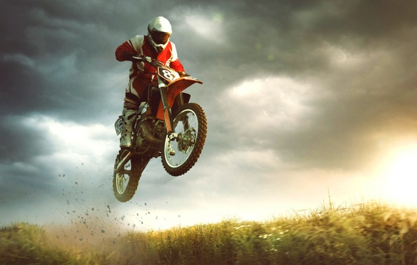 Picture jump, sport, bike, extreme, motorcyclist, bike, jump, extreme, sports, biker, Motocross, Michal Vitek
