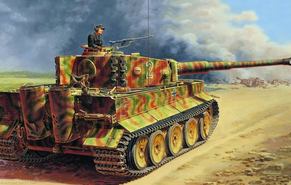 Picture war, Tiger, tank, Tiger, heavy, German
