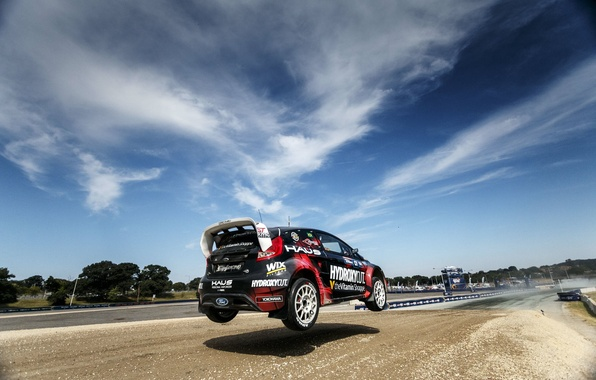 Picture the sky, clouds, jump, speed, Ford, shadow, Barbados, 2015, extreme sports, Racecourse, SHR Rallycross Team, …