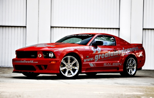Picture red, race, Mustang